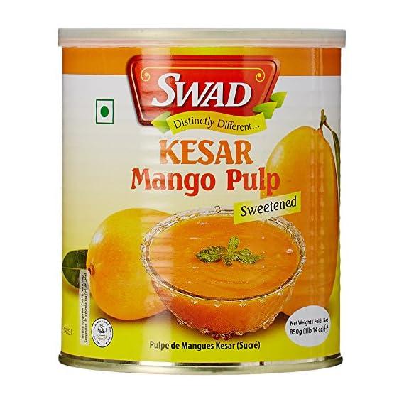 Swad Kesar Mango Pulp Sweetened, 850g