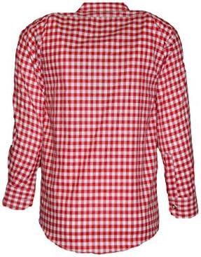 MS-Trachten Camisa Tradicional para niños Camisa a Cuadros roja o Azul: Amazon.es: Ropa y accesorios