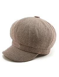 Siggi Womens Wool Newsboy Cap Winter Hat Visor Fall Beret Cap Warm Soft Lined