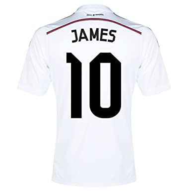 62430182a7a Amazon.com: Adidas JAMES #10 Real Madrid Home Jersey 2014/15 YOUTH ...