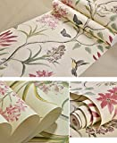"""American Country Rustic Peel and Stick Wallpaper Roll Vintage Floral Non-woven Self Ahesive Butterfly Birds Contact Paper Wall Paper for Bedroom Living Room Wall Art Decor 20.83"""" x 117"""""""