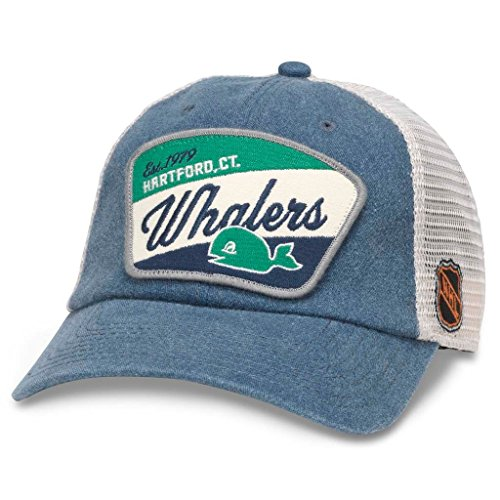 (American Needle Ravenswood NHL Team Mesh Hat, Vintage Hartford Whalers , Ivory/Navy (43422A-HAW))