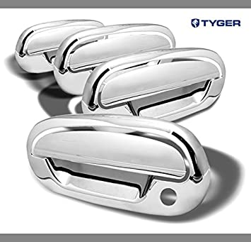 Amazon Com Tyger Abs Triple Chrome Plated Door Handle Cover Fits 97 02 Ford Expedition 97 03 F150 98 02 Lincoln Navigator 4 Doors With Passenger Key Hole No Key Pad Automotive