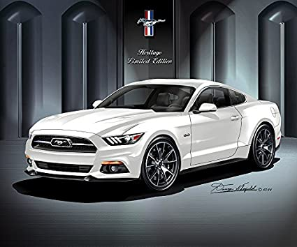 White Mustang Gt >> Amazon Com 2015 Ford Mustang Gt 50th Anniversary