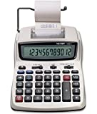Victor Printing Calculator, 1208-2 Compact and Reliable Adding Machine with 12 Digit LCD Display, Battery or AC Powered, Includes Adapter,White