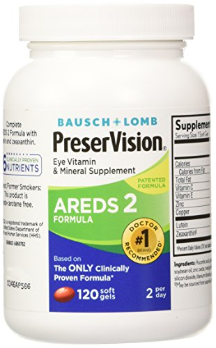 Preservision Areds 2 Vitamin Mineral Supplement 120 Count Soft Gels Pack of 2