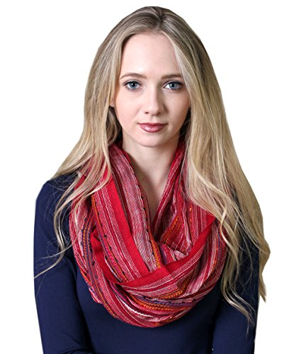 ss Shimmer Infinity Scarf (Red Vogue) (Infiniti Scarf)