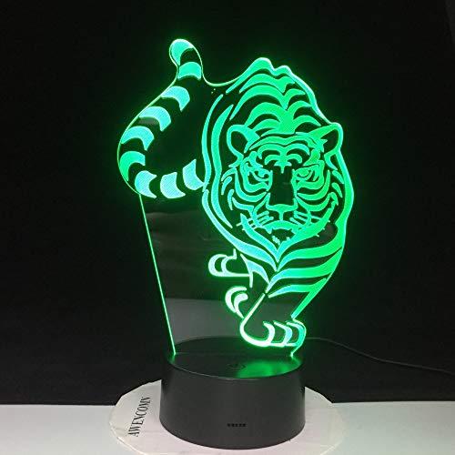 Luz de Noche LED Control de Sensor táctil Remoto de luz 3D niños y ...