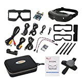 Skyzone SKY02S V+ 3D 5.8G 48CH FPV Goggles Video Glasses Tracker with Transmitter Camera Head Tracking HDMI-IN Channel DVR - Black