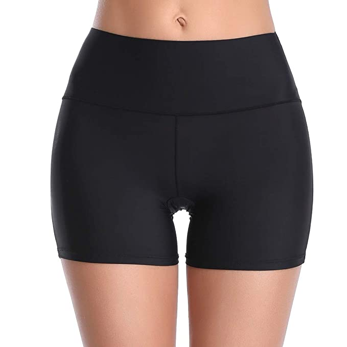 e5989d827bf Women's Seamless Boyshort Panties Nylon Spandex Underwear Stretch Shorts  for Under Dresses (Black-Ultra