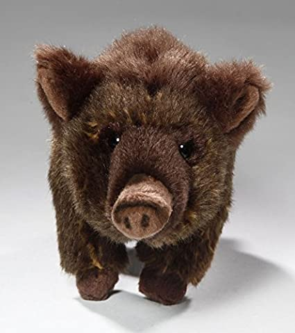 Amazon.com: Carl Dick Boar, Wild Pig standing, 8 inches, 22cm, Plush Toy, Soft Toy, Stuffed Animal 2581: Toys & Games