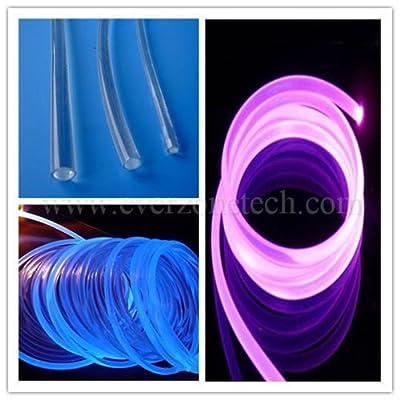 2mm Solid Core Side Glow Fiber Optic Light Cable 5m/lot