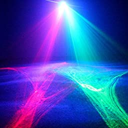SUNY Aurora Laser Red Green Color Galaxy WavyFull LED Light Stage Lighting Projector DJ Home Party Holiday Xmas Christmas Decoration
