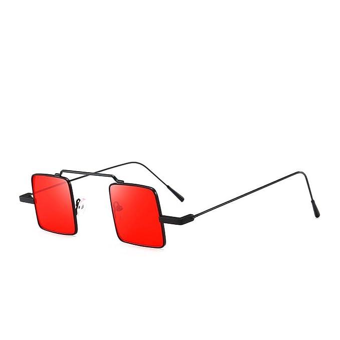 VJGOAL Unisex retro gafas de sol cuadradas clásicas UV ...
