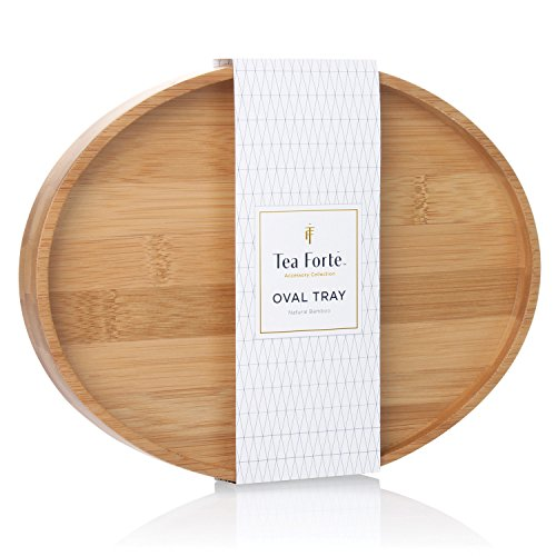 Tea Forte Bamboo Oval Tea Serving Tray (Tray Oval Bamboo)