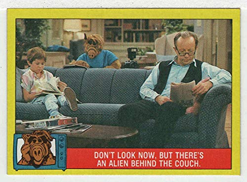 Don't look now, but there's an Alien behind the Couch - Alf - His Life And Times (Trading Card) # 14 - Topps 1987 NM/MT