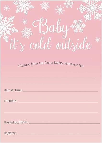Amazon Com Invitaciones De Invierno Para Baby Shower Copo