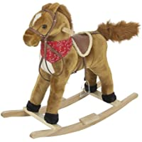 Rocking Horse Plush Brown With Sound