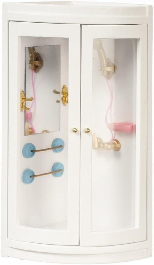 Amuzocity 2 Set 1:12 Scale Dollhouse Miniature Simulation Shower Head with Hose Supply Kit
