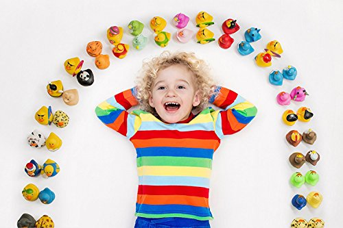 Kicko Assorted Rubber Duckies - 100 PC Bath Floater – Baby Showers Accessories – Bulk Ducks for Kids – Easter Party, Halloween Party Favors, Rubber Ducks Supplies and Favors by Kicko (Image #2)