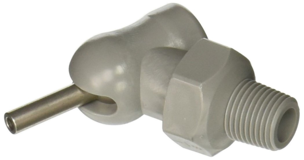 Loc-Line 79046-G Acetal HPT Nozzles (XR Style) with Adjustment Lever, 0.086'' x 0.5'', Thread Size 1/8'', Gray (Pack of 11)
