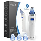[2018 UPGRADED] The Original Comedo Suction Microdermabrasion Machine Blackhead Removal Rechargeable Skin Peeling Machine By Krasr Comedone Extractor Set - Exclusive