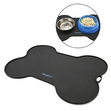 RoyalCare Mantel Individual de Mascotas, Pet Food Mat Tazón Impermeable no tóxico FDA Silicona de Grado Estera Tapetes para comer para perros o gatos