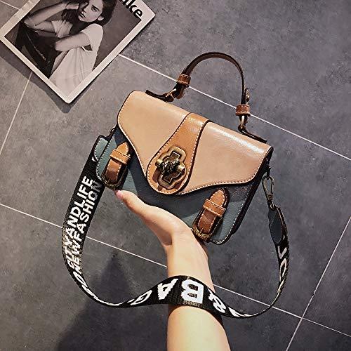 la Bag Bande épaule WSLMHH de Kong Petit Large Version Kaki Messenger Mode coréenne Hong Sauvage à carré Sac bandoulière Sac personnalité Style Rétro marée Femme gqfTg7