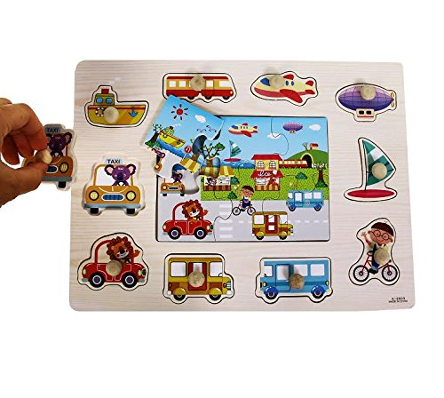 kids puzzles with knobs - 9
