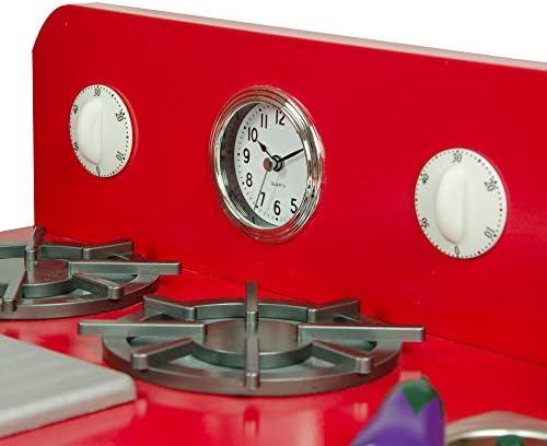 Teamson Kids TD-11414R 2 Pezzi da Cucina, Rosso