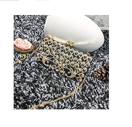 Dame ZHRUI Version métal bandoulière chaîne épaule Diamant en Noir Fleur chaîne et à Brillants Nobles Main Femme de Yeux coréenne la Sac Xwrqx8Aw6