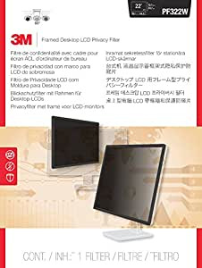 3M PF322W Enmarcado Filtro de privacidad para 22-23-pulgadas panorámica de escritorio