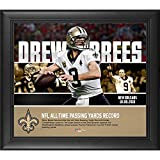 Drew Brees New Orleans Saints Framed 15'' x 17'' NFL Passing Yards Record Collage - NFL Player Plaques and Collages