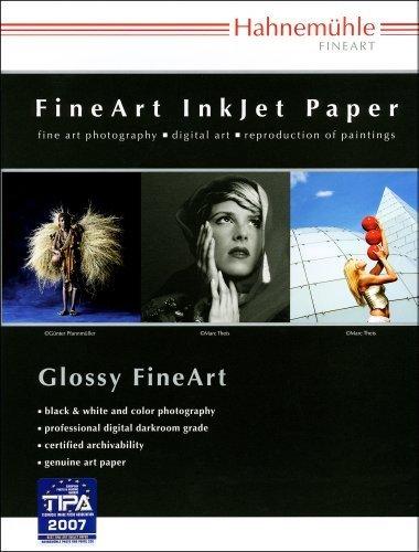 Hahnemuhle Fine Art Pearl, Fiber Based, Bright White Inkjet Paper, 285gsm, 8.5x11, 25 Sheets by Hahnemuhle (Pearl Inkjet)