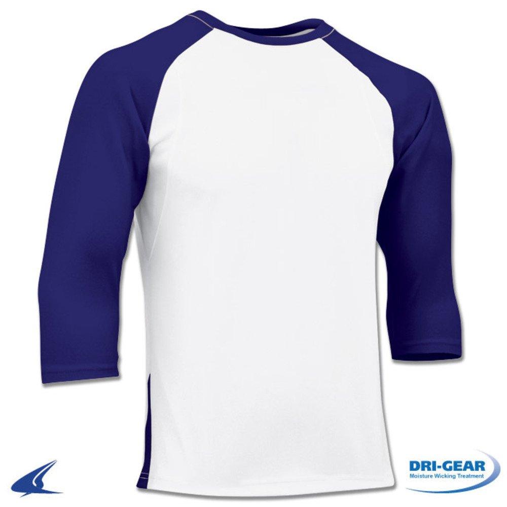 Blackout Tees SHIRT ボーイズ B01N4O01HI L White, Purple Sleeve White, Purple Sleeve L