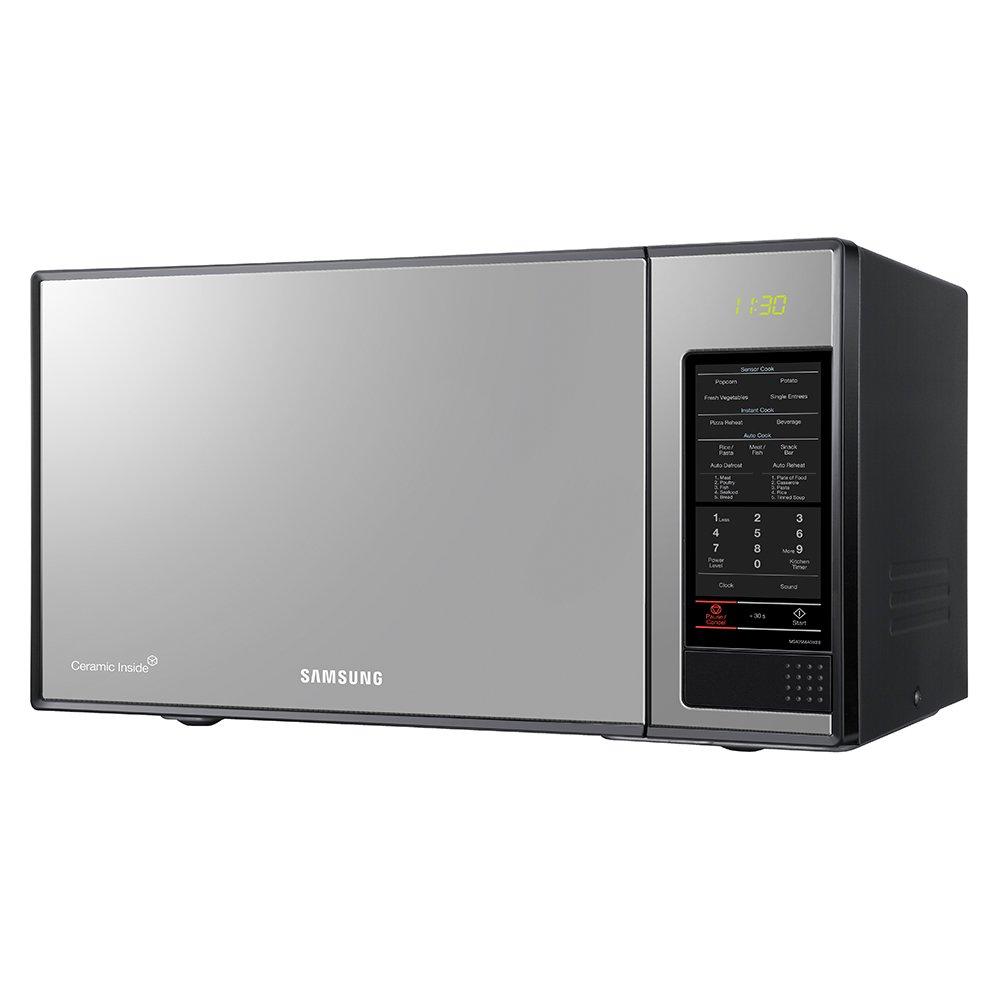 Samsung MS402MADXBB Encimera 40L 1050W Acero inoxidable - Microondas (Encimera, 40 L, 1050 W, Tocar, Acero inoxidable, Apertura por empuje): Amazon.es