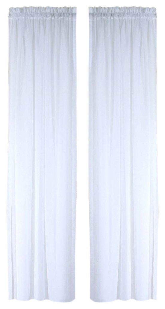 Amazon Com Ricardo Oyster Bay Sheer Voile Curtain Panel 84 Inch