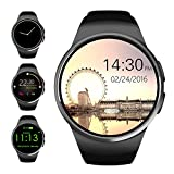 Smart Watches Best Deals - Bluetooth Smart Watch,Evershop 1.3 inches IPS Round Touch Screen Water Resistant Smartwatch Phone with SIM Card Slot,Sleep Monitor,Heart Rate Monitor and Pedometer for IOS and Android Device (Black)