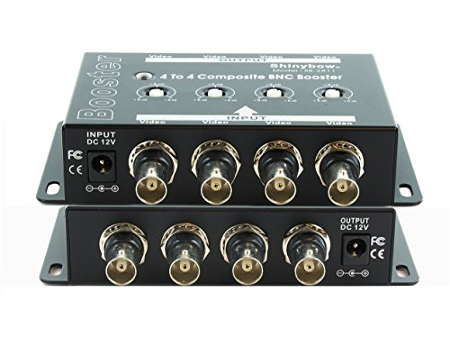 Shinybow 4x4 (4:4) Composite BNC Video Booster Extender Distribution Amplifier SB-2811