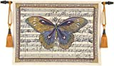 Fine Art Tapestries ''Butterfly Dance I'' Wall Tapestry, Large
