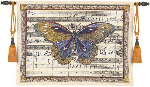 Fine Art Tapestries ''Butterfly Dance I'' Wall Tapestry, Large by Fine Art Tapestries