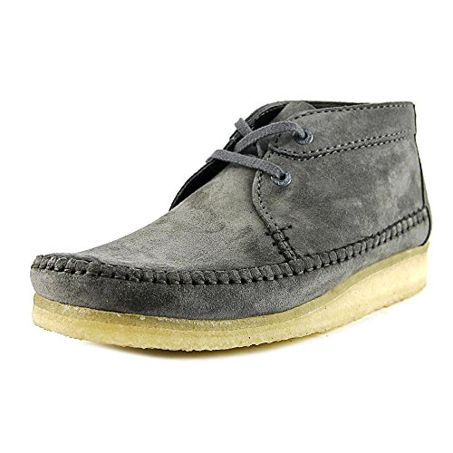 Clarks Mens Weaver Boot In Pelle Scamosciata Color Carbone