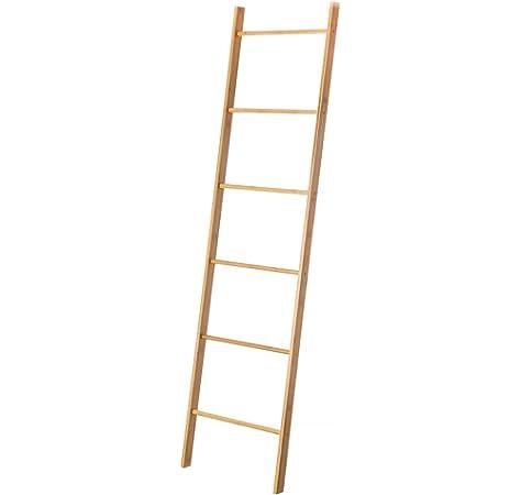 Toallero Escalera nórdico marrón de bambú para Cuarto de baño Basic - LOLAhome: Amazon.es: Hogar