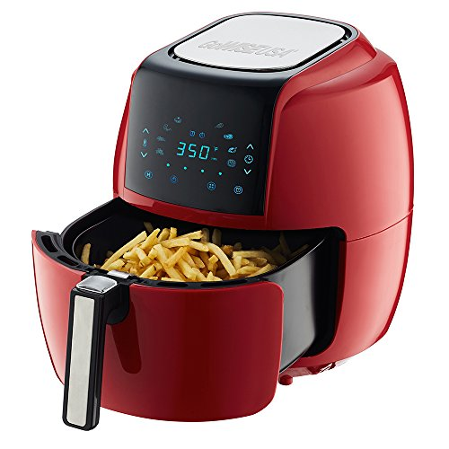 GoWISE USA 5.8-Quarts 8-in-1 Air Fryer XL with 6-PC Accessory Set + 50 Recipes for your Air Fryer Book (Chili Red) by GoWISE USA (Image #2)