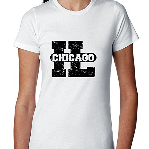 Chicago, Illinois IL Classic City State Sign Women's Cotton T-Shirt