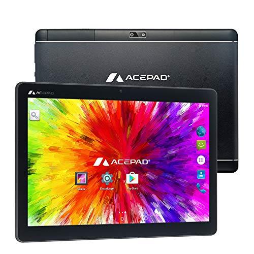 ACEPAD A130 Tablet 10,1 Zoll – Deutsche Marke – 4G LTE, 64GB Speicher, Octa-Core, Android 9.0 Pie, IPS HD, Wi-FI…