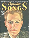 img - for Popular Songs - Scores and Scores of Lyrics to Song Hits -- Ten Songs with Words and Music (October Issue)(includes
