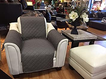 Reversible Quilted Furniture Cover Sofa By CT Discount Store (Brown/Taupe)