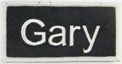 'Gary' Name Tag Uniform Identification Badge Embroidered Iron On Applique Patch