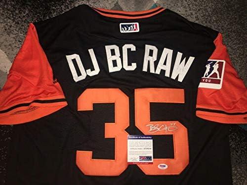 size 40 e2cb8 f4587 Brandon Crawford Autographed Jersey - Nickname DJ BC RAW ...